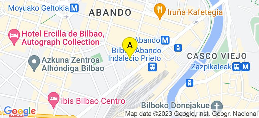 situacion en el mapa de . Direccion: Padre Lojendio, 5 - 2, 48008 Bilbao. Vizcaya
