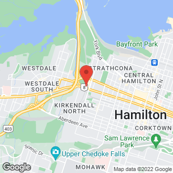 Map of Tim Hortons at 50 Dundurn St South, Hamilton, ON L8P 4W3