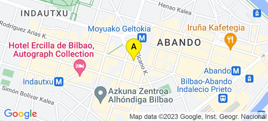 situacion en el mapa de . Direccion: Rodríguez Arias 6, 48008 Bilbao. Vizcaya