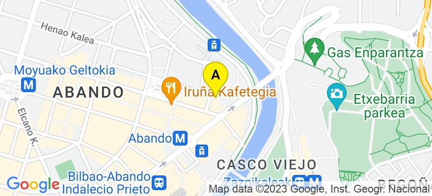 situacion en el mapa de . Direccion: IBAÑEZ DE BILBAO 3 - 5º, 48001 Bilbao. Vizcaya