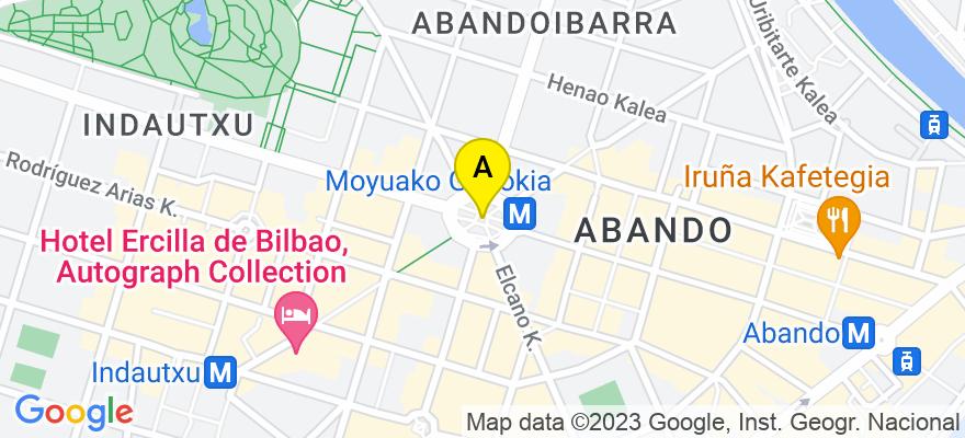 situacion en el mapa de . Direccion: calle Bertendona 3, 3ºA, 48008 Bilbao. Vizcaya