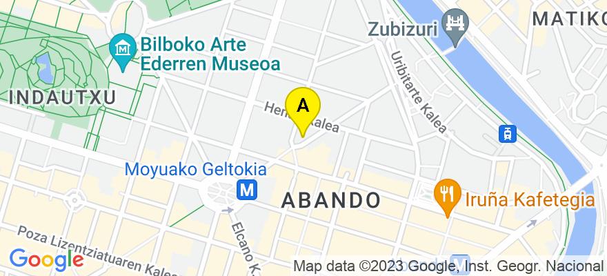 situacion en el mapa de . Direccion: ERCILLA 16-3º, 48009 Bilbao. Vizcaya