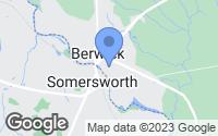 Map of Berwick, ME