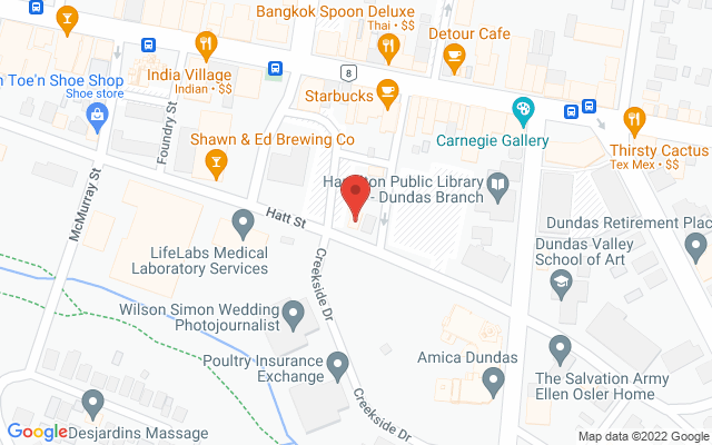 Vitality Physiotherapy & Associates Static Google Map Wide Version