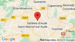 Carte de localisation du centre de contrôle technique Salleles d'Aude
