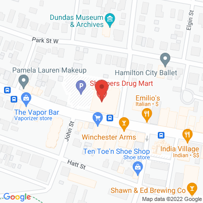 Precision Physiotherapy – Dundas Static Google Map
