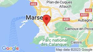 Carte de localisation du centre de contrôle technique Marseille 9em