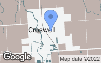 Map of Croswell, MI