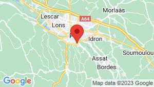 Carte de localisation du centre de contrôle technique MAZERES LEZONS