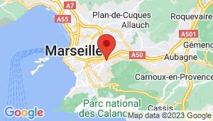 Carte de localisation du centre de contrôle technique Marseille 10