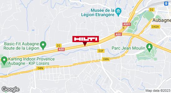 Get directions to Espace Hilti - La Plateforme du Bâtiment - Aubagne (ZI St Mitre )