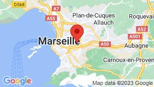 Carte de localisation du centre de contrôle technique Marseille 12