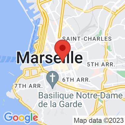 Map showing La fiancée