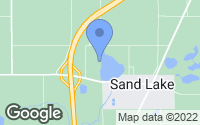 Map of Sand Lake, MI