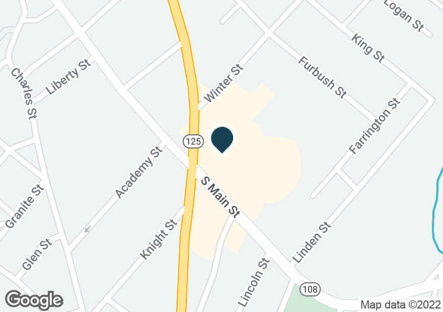Google Map of104 S MAIN ST