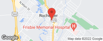 Map of 68 S Main St in Rochester