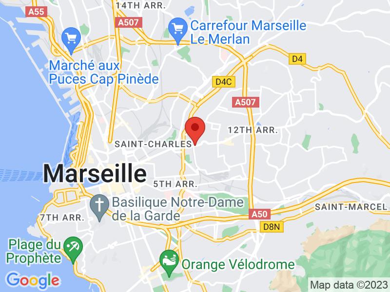Image Google Maps de notre emplacement