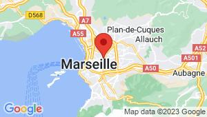 Carte de localisation du centre de contrôle technique Marseille 4em