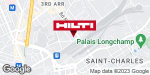Get directions to Espace Hilti - La Plateforme du Bâtiment - Marseille St Charles