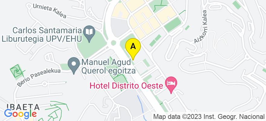 situacion en el mapa de . Direccion: Avda. Tolosa, 75, 20018 Donostia/San Sebastián. Guipúzcoa