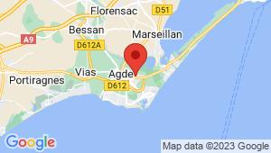 Carte de localisation du centre de contrôle technique AGDE