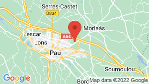 Carte de localisation du centre de contrôle technique PAU