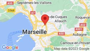 Carte de localisation du centre de contrôle technique Marseille 12em