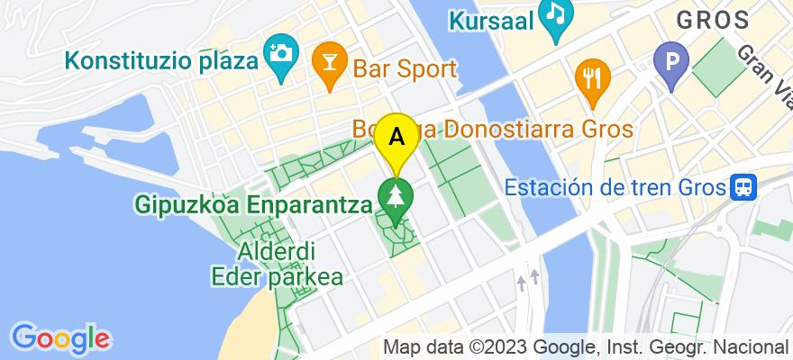 situacion en el mapa de . Direccion: Calle Legazpi, 7, 20004 Donostia/San Sebastián. Guipúzcoa