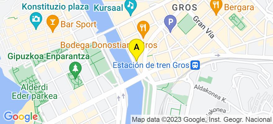 situacion en el mapa de . Direccion: Pº Ramon María Lili Nº 8 Piso 1º B, 20002 Donostia/San Sebastián. Guipúzcoa