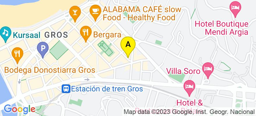 situacion en el mapa de . Direccion: C. SEGUNDO IZPIZUA 37, 20001 Donostia/San Sebastián. Guipúzcoa