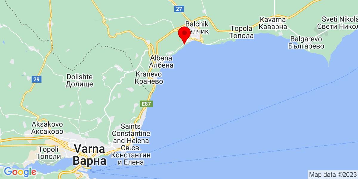 Google Map of 43.32358230511086, 28.12060075257031