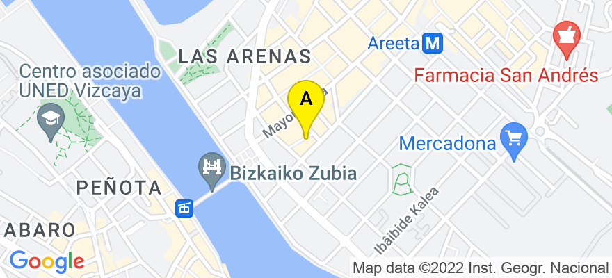 situacion en el mapa de . Direccion: Calle Reina Maria Cristina 10,2-E, 48930 Getxo. Vizcaya