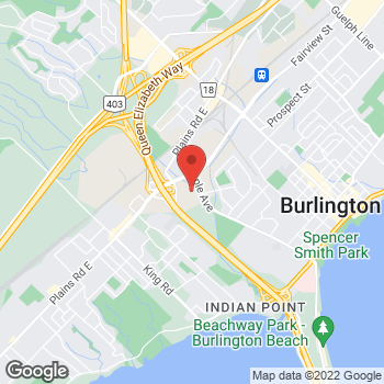 Map of LensCrafters at 900 Maple Avenue, Burlington, ON L7S 2J8