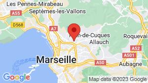 Carte de localisation du centre de contrôle technique Marseille 13em
