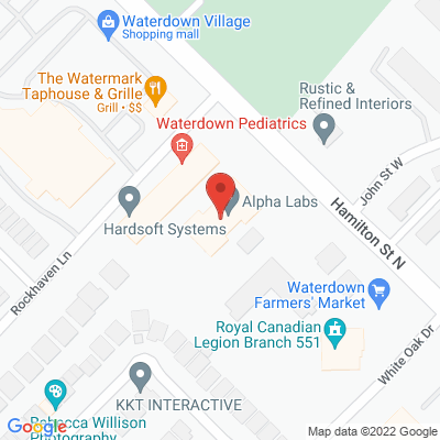 Waterdown Physiotherapy Static Google Map