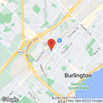 Map of Staples Print & Marketing Services at 1881 Fairview Street, Burlington, ON L7S 2K4