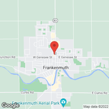 Map of Taco Bell at 208 N Main Street, Frankenmuth, MI 48734