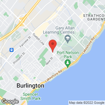 Map of Tim Hortons at 3005 New St, Burlington, ON L7R 1K3