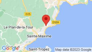 Carte de localisation du centre de contrôle technique SAINTE-MAXIME