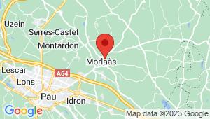 Carte de localisation du centre de contrôle technique MORLAAS