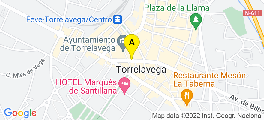 situacion en el mapa de . Direccion: Bulevar Demetrio Herrero 5, 1º, Pasillo izquierda, Puerta 4, 39300 Torrelavega. Cantabria