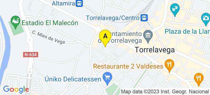 situacion en el mapa de . Direccion: C/Jesus Cancio 5, 39300 Torrelavega. Cantabria