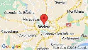 Carte de localisation du centre de contrôle technique BEZIERS
