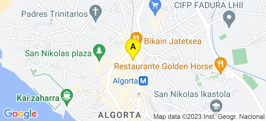 situacion en el mapa de . Direccion: Calle Telletxe 7, 48991 Getxo. Vizcaya