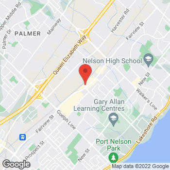 Map of Burger King at 3295 Fairview St, Burlington, ON L7N 3N9