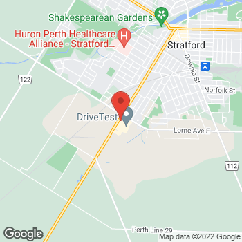 Map of Tim Hortons at 693 Erie St, Stratford, ON N4Z 1A1