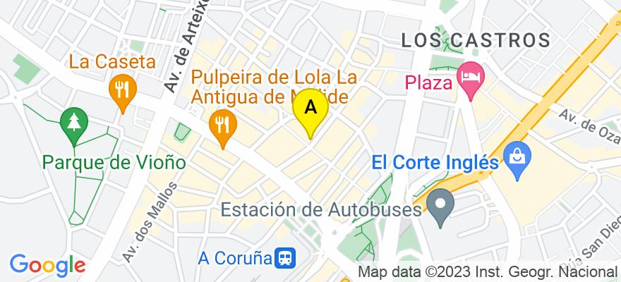 situacion en el mapa de . Direccion: Oidor Gregorio Tovar, nº 44 - 8º, 15007 A Coruña. A Coruña