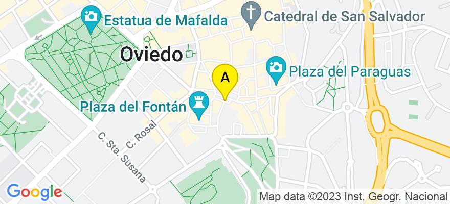 situacion en el mapa de . Direccion: Catedratico Gimenro, 33007 Oviedo. Asturias