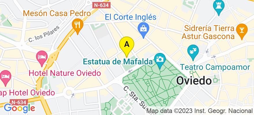 situacion en el mapa de . Direccion: C/ Gonzalez del Valle 12,  1c d, 33004 Oviedo. Asturias