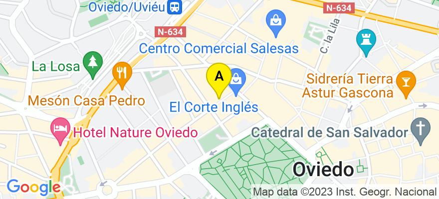 situacion en el mapa de . Direccion: Gil de Jaz 4-1º H, 33004 Oviedo. Asturias